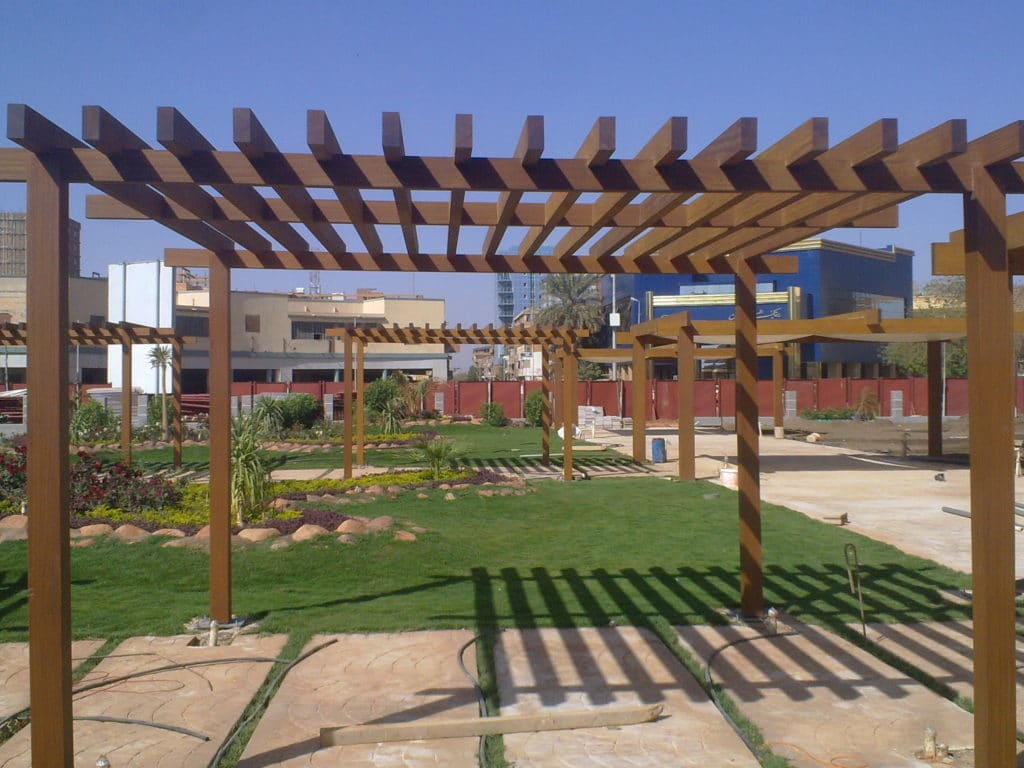 Technowood used to create a pergola