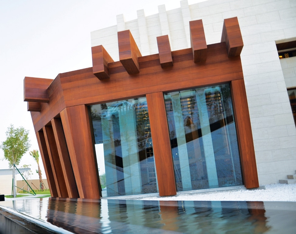 Technowood Aluminium Panels used on a private villa