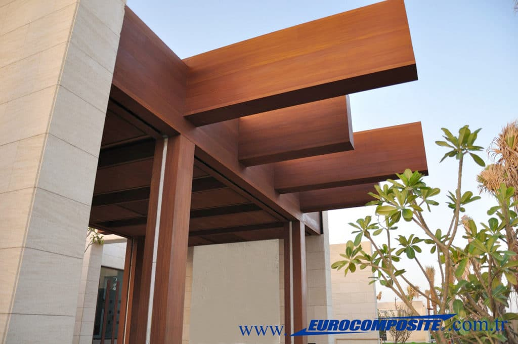 Technowood Aluminium Panels used on a private villa