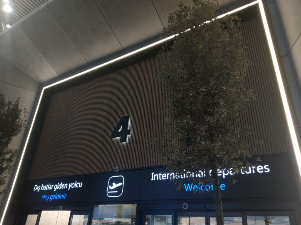 Technowood internal cladding used in the Istanbul airport