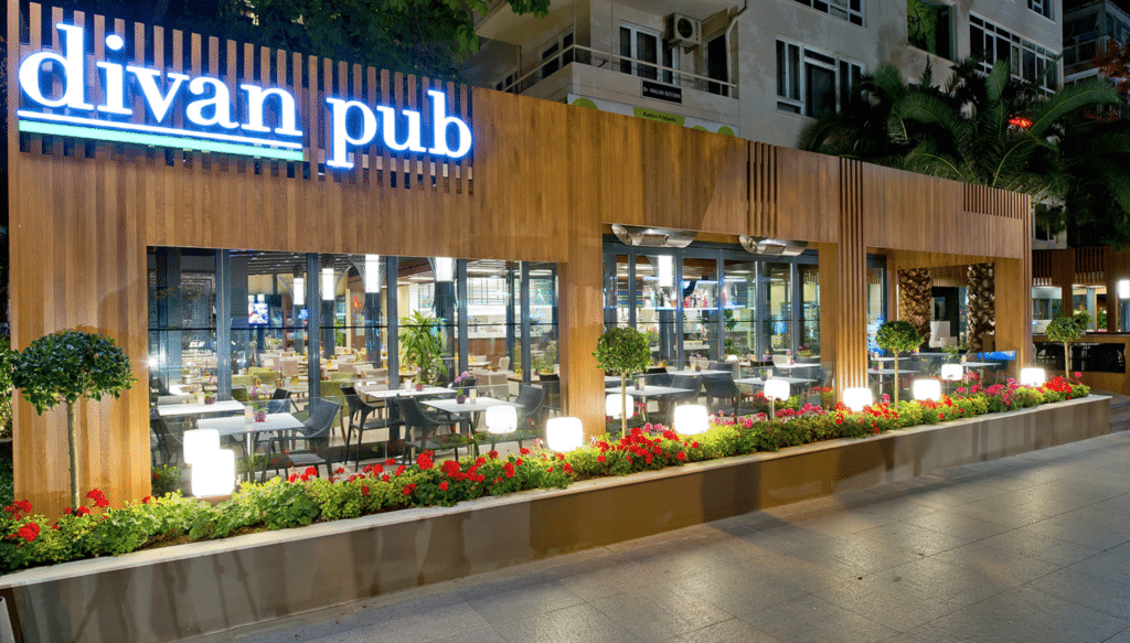 fire rated timber cladding restaurant front