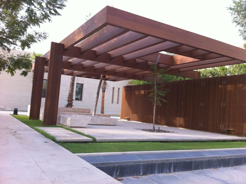 contemporary sustainable pergola