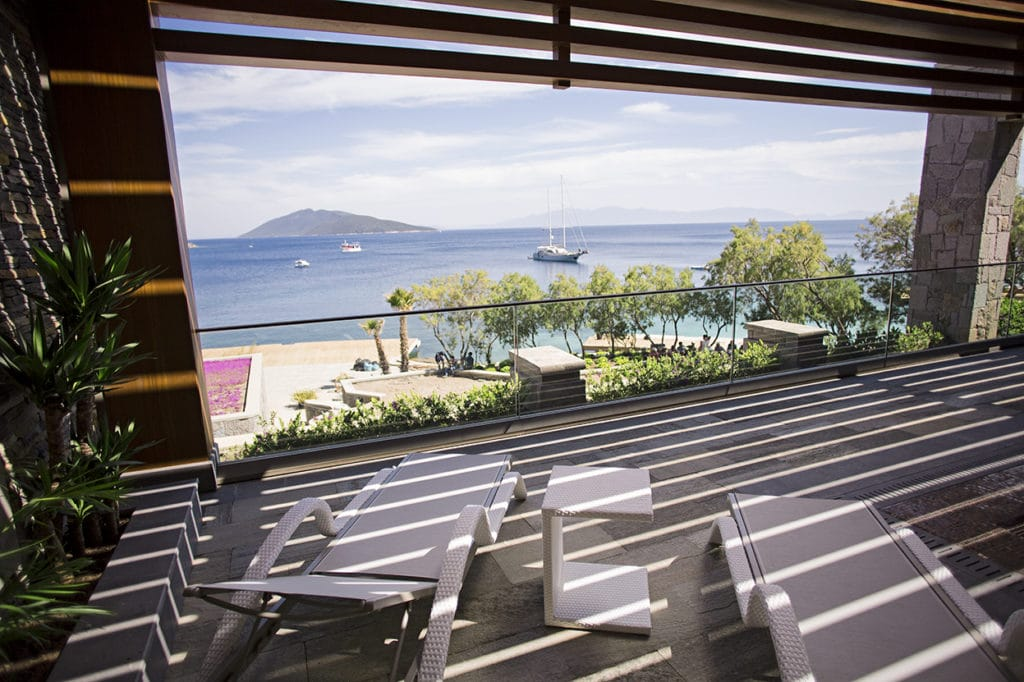 Bodrum Caresse Hotel Technowood pergola roof covering